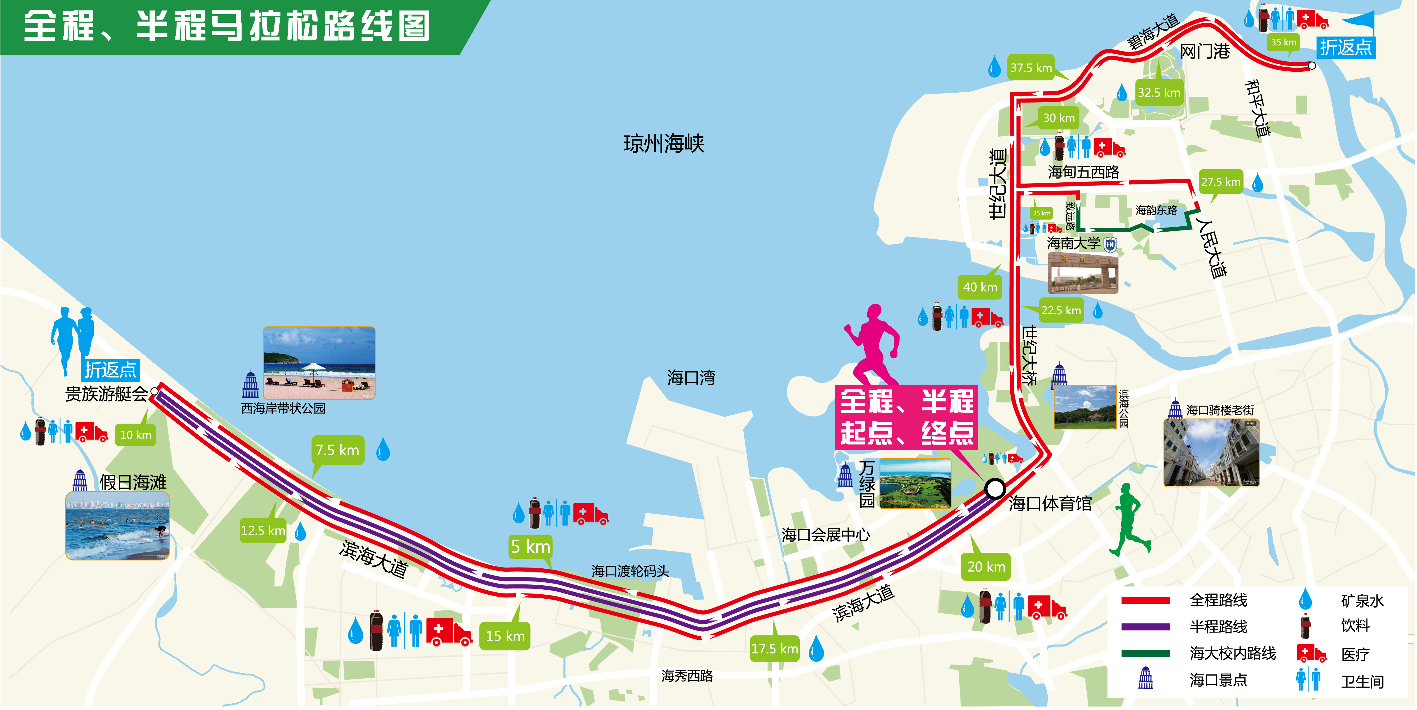 2017秦皇岛马拉松地图