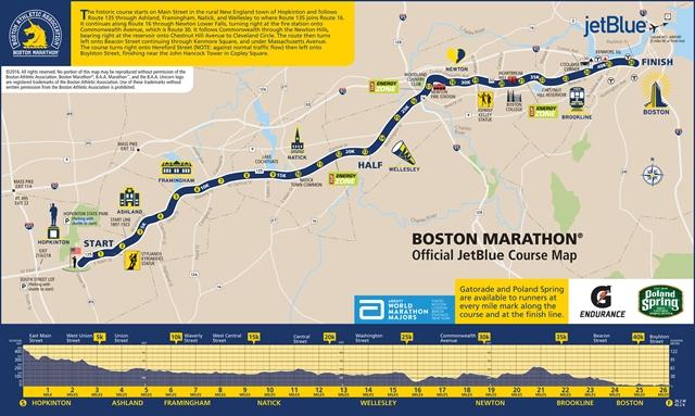 > 波士顿马拉松  残障组 报名费用: 查看路线图 比赛日期: 2017-04-17